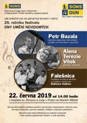 Den umění nevidomých v Praze 22. června 2019