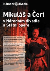 Mikuláš v Národním divadle a Státní opeře