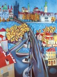 Podzim u Karlova mostu - Karel Chaba