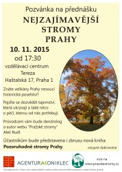 Přednáška Nejzajímavější stromy Prahy