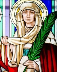 sv. Ludmila vitráž