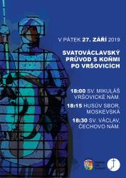 Svatováclavský průvod po Vršovicích 2019