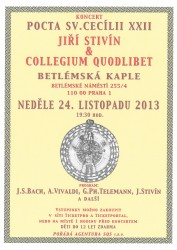 Tradiční koncert Jiřího Stivína a Collegia Quodlibet