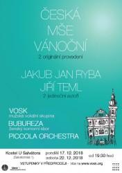 Vánoční koncert VOSK s Českou mší vánoční Jakuba Jana Ryby