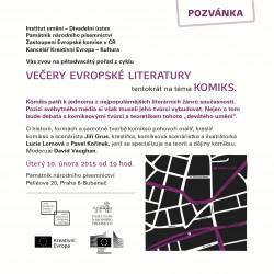 Večer evropské literatury na téma KOMIKS