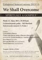 We Shall Overcome - Cancioneta Praga